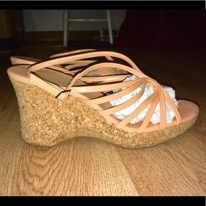 BCBGMAXAZRIA Wedge Sandals Size 6.5